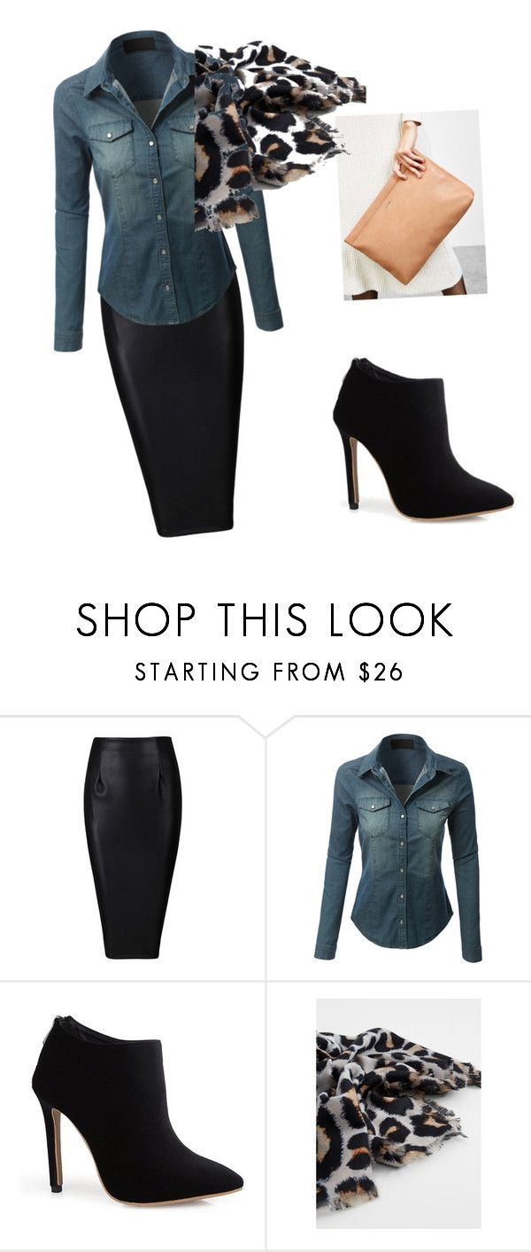 """Untitled #26"" by regi35715 on Polyvore featuring LE3NO, Bershka and MANGO"