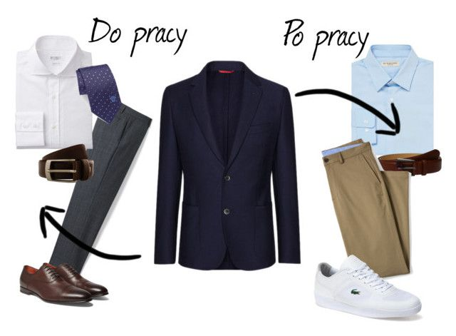 """set"" by thealine2014 on Polyvore featuring FAY, Lands' End, Versace, Santoni, Renato Balestra, Burberry, Ted Baker, Lacoste, men's fashion i menswear"