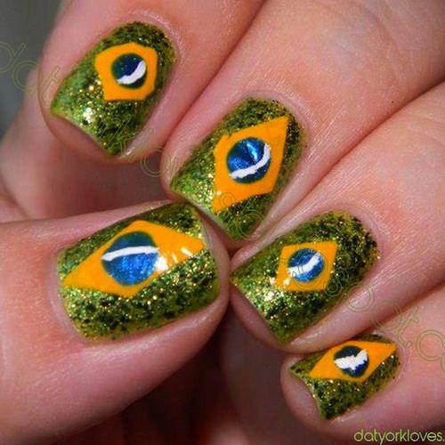 Complete World Cup Nail Art 2014 Gallery - #brazil #brasil #soccernails