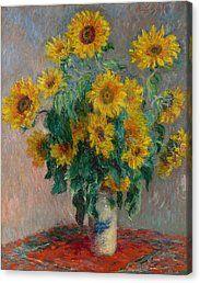 Bouquet Of Sunflowers Canvas Print by Claude Monet