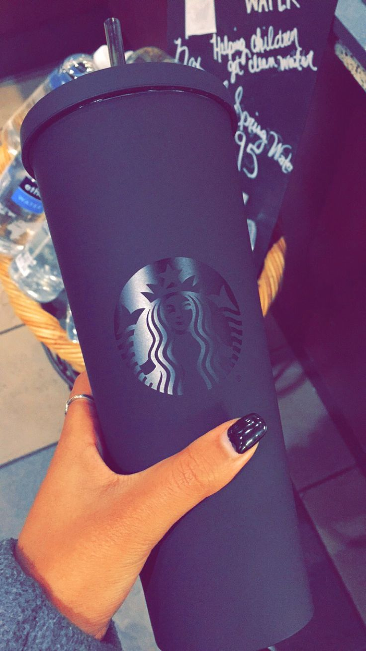 Matte Black Starbucks Cold Cup ⚫️