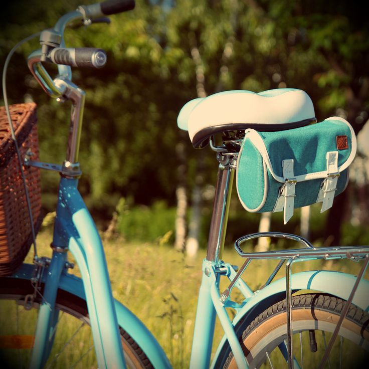 Sakwa rowerowa pod siodełko. Turquoise bicycle saddle bag. Rower miejski, rower holenderski, rower damski