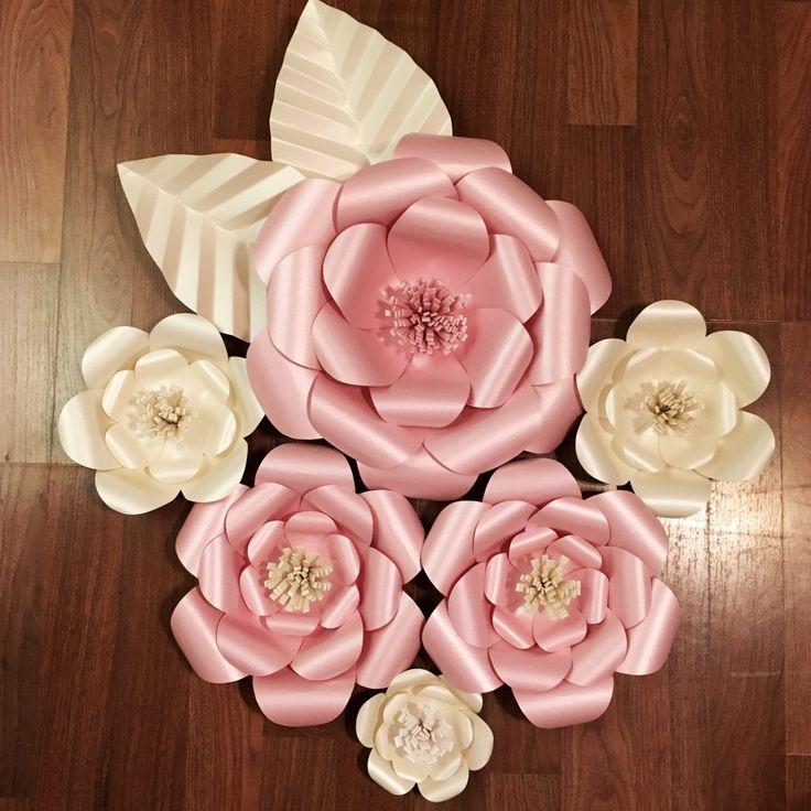 Pared 3D flores  flor de papel grandes Set de 6  colores de