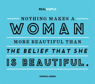 It's all about self confidence, ladies!