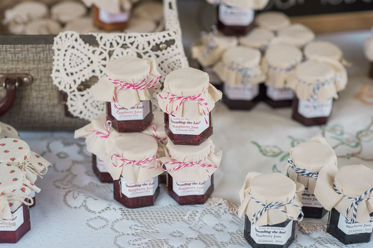 Favors: Home made jams and pickles