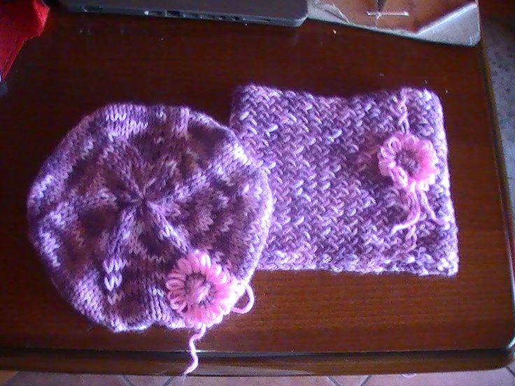 Cappello e Scaldacollo di lana melange per le giornate invernali