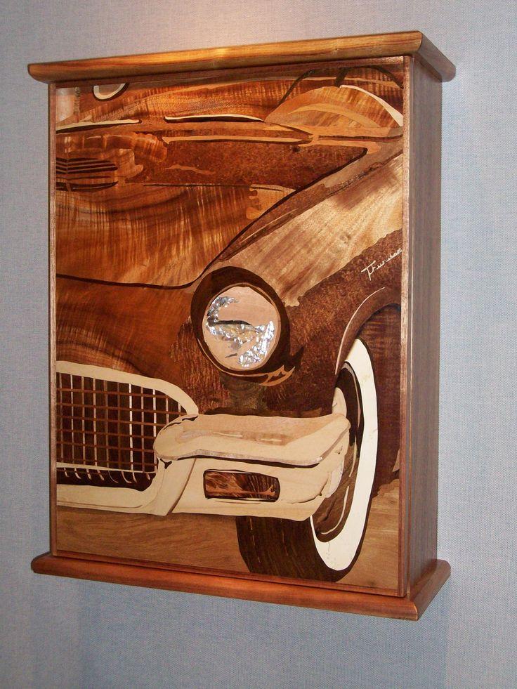 Wall Cabinet Hawaiian Koa Wood Image Is Of A 1957