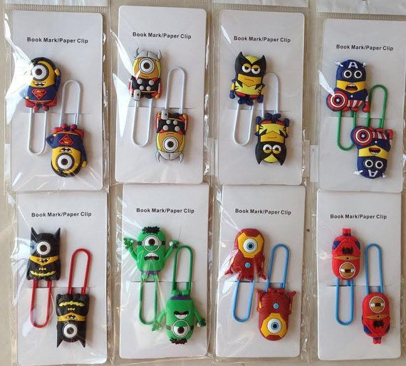 Pair Paperclip/Bookmark Minion x Marvel Super by BulkandSave, $1.99