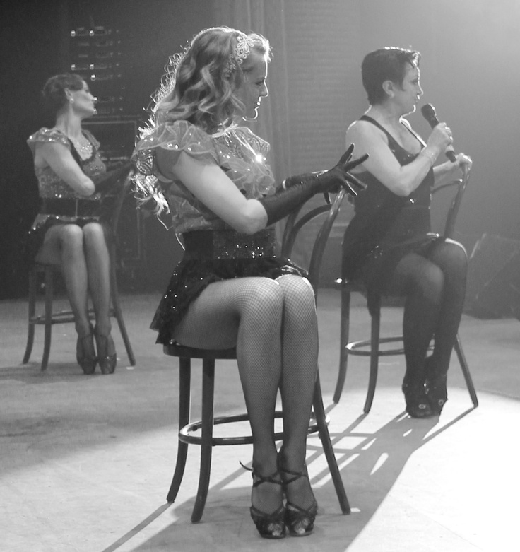 Come hear the music play. Caroline O'Connor, Natalya & Nadia.