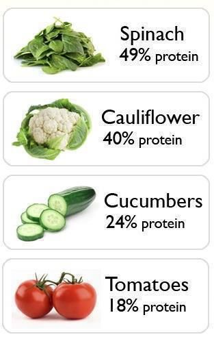 Proteins in vegetables. Soybeans have over 50% of protein I believe too, someone once told me. I'll have to check into soybeans too :)