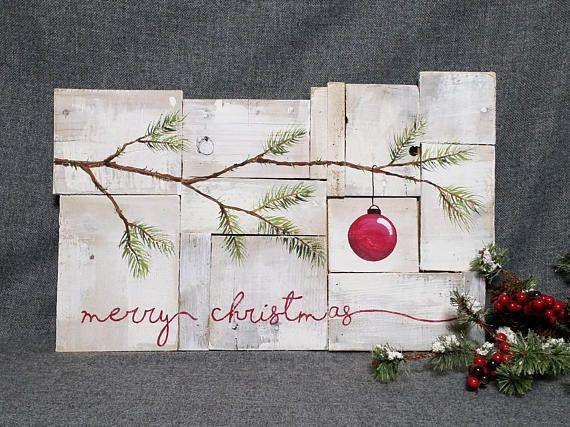 die besten 25 bauernhaus weihnachtsdekor ideen auf pinterest weihnachtsdekoration rustikaler. Black Bedroom Furniture Sets. Home Design Ideas