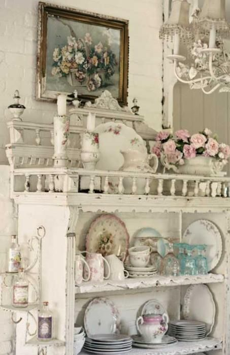 shabby victorian: Cottages Style, Vintage Dishes, China Cabinets, Shabby Chic, Shelves, Vintage China, Display, Pretty, Antique