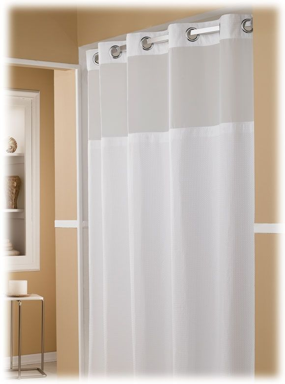 Exceptional The Major Hookless Hotel Shower Curtains, 12/case
