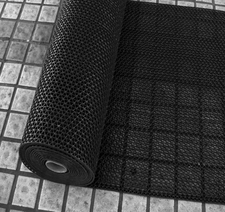 Покрытия для зоны вокруг бассейна. Дорожка змейка (zig-zag) черная 1,2 х 15м х 5 мм