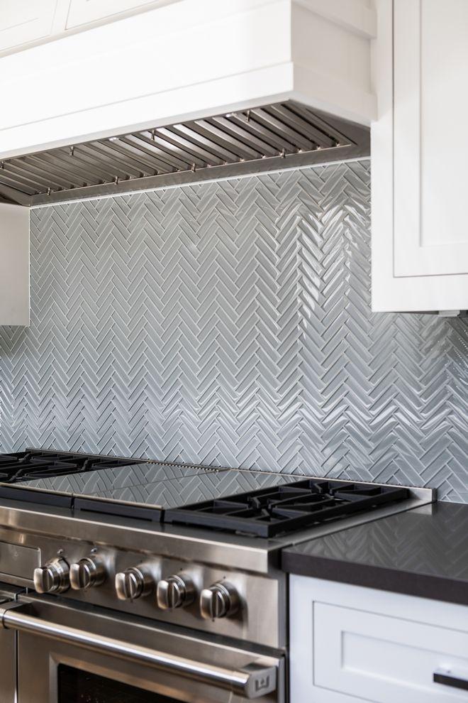 glass herringbone tile backsplash tile