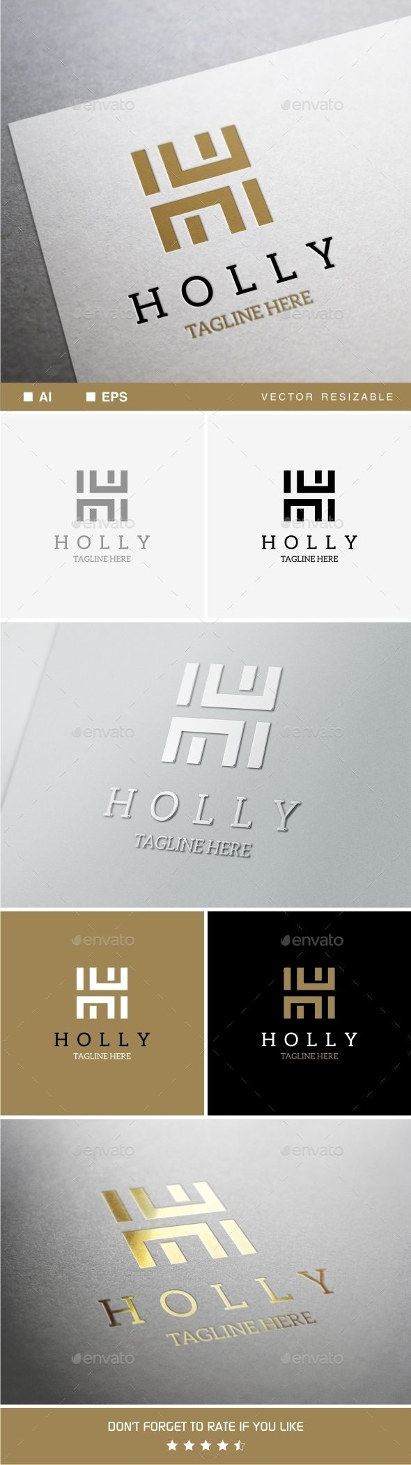 Holly H Letter - Logo Design Template Vector #logotype Download it here: http://graphicriver.net/item/holly-h-letter-logo-template/13810647?s_rank=1571?ref=nexion