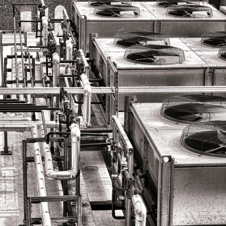 Industrial HVAC Air Conditioner Condenser Fans. Industrial