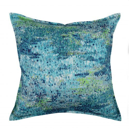 Funchai Oceano a flamboyant, evoking bold design. The dramatic pointillist colour fields and shades of ombre add to the exotic story. Available #TheBedroomShopOnline
