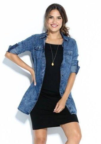 Džínsová šatová tunika #modino_cz #jeanshirt #jeandress #style #fashion #denim #streetstyle