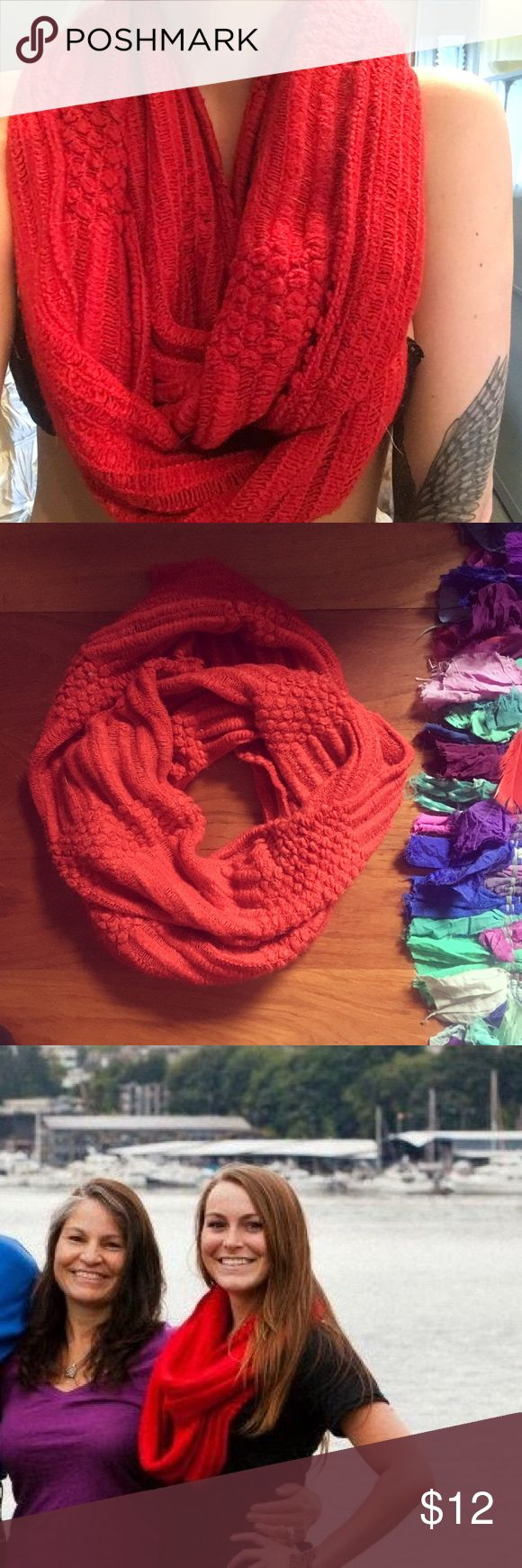 Urban outfitters red infinity scarf Urban outfitters red infinity scarf Urban Outfitters Accessories Scarves & Wraps
