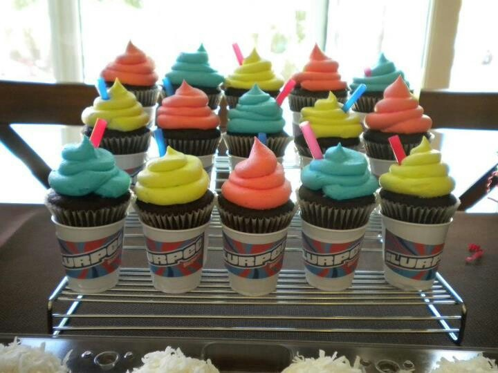 slurpee cupcakes