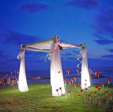 DIY cute idea for outdoor wedding!!