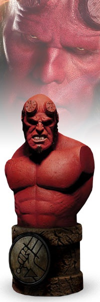 Hellboy - Mezco Toys adds some vigor to Hellboy with a new line of Roto-molded Hellboy II collectibles! These stylized designer vinyl collectibles offer some of the most unique Hellboy II pieces around at an affordable price. Add the Hellboy Articulated Roto-Cast Bust to your Big Red collection today!