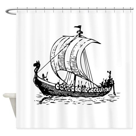 Der Drache Boote Shower Curtain On CafePress.com