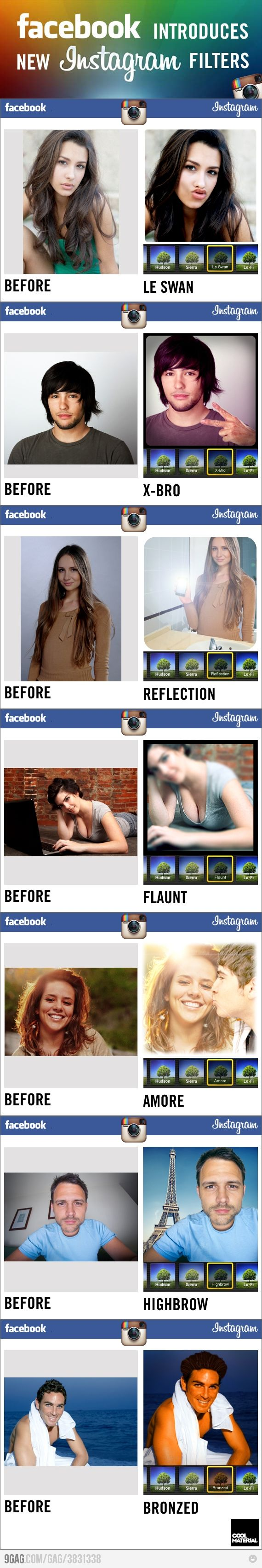 LOL -- #Facebook Introduces New #Instagram Filters #infographicFacebook Instagram, Laugh, Facebookinstagram, Stuff, Funny Memes Pictures, Social Media, Humor, Instagram Filters, Facebook Introducing