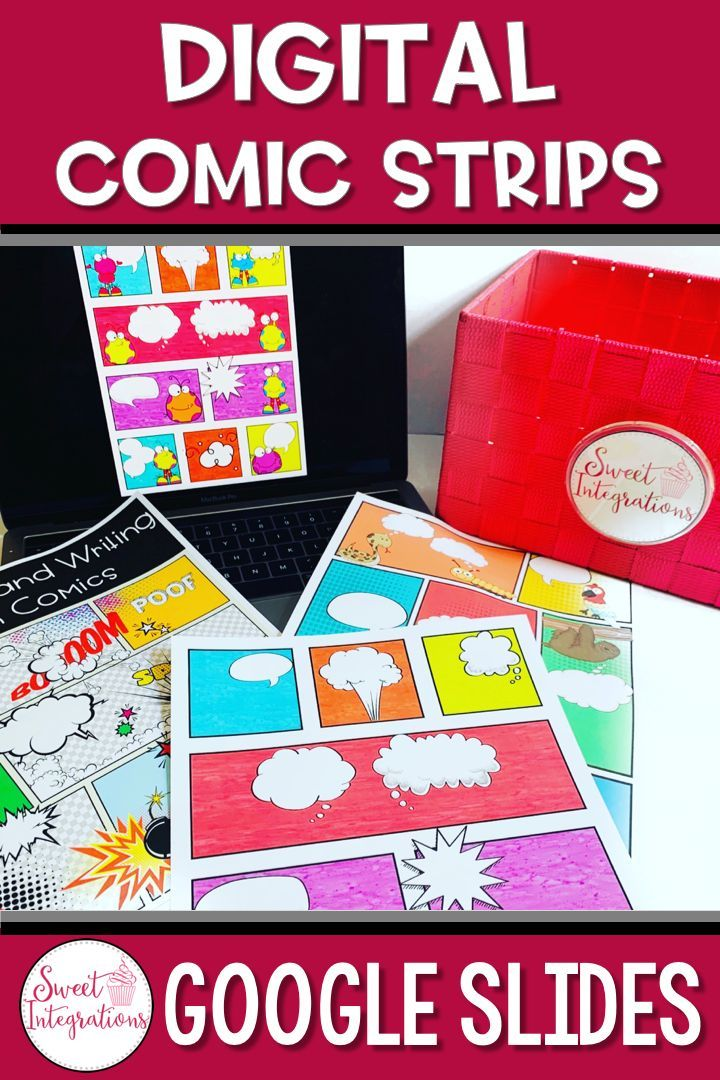 digital comic strip template  DIGITAL COMIC STRIP GOOGLE SLIDES TEMPLATES | Reading and ...