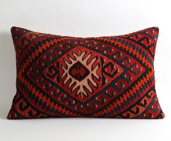 kilim cushion 16x24 kilim pillow kilim bohemian pillow
