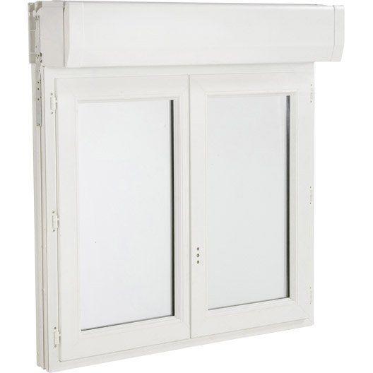 Fenêtre PVC avec volet roulant PRIMO, haut 135x larg 100cm