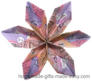 origami money flowers