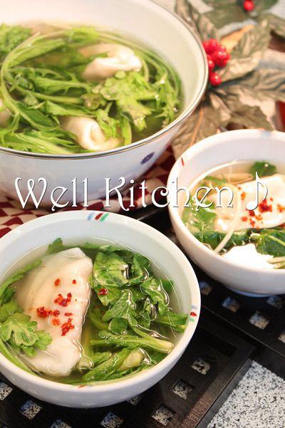 お腹に優しい葉っぱ色々揃い組 鶏ガラスープ水餃子 by ウエルキッチン ...