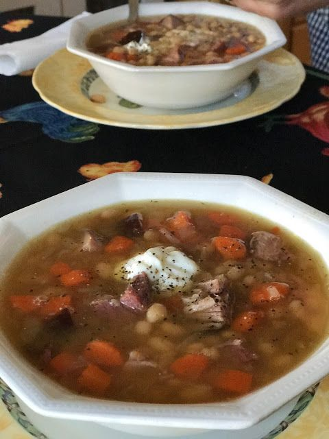 Mennonite Girls Can Cook: White Bean and  Ham Soup