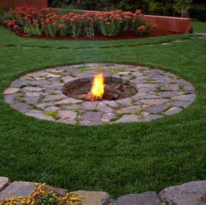 DIY Fire Pit Ideas | Fire pit backyard, Backyard, Outdoor fire
