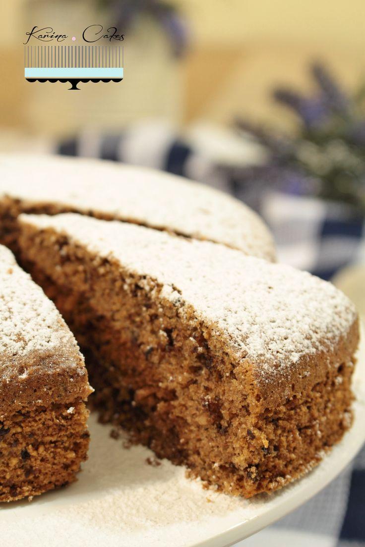 Koláč s lieskovými orieškami a gaštanovým pyré - Hazelnut Cake With Chestnut Puree
