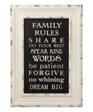 This 'Family Rules' Framed Sign is perfect! #zulilyfinds