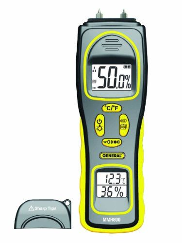 General Tools MMH800 Moisture Meter, Pin Type or Pinless, Temperature and Humidity #deals