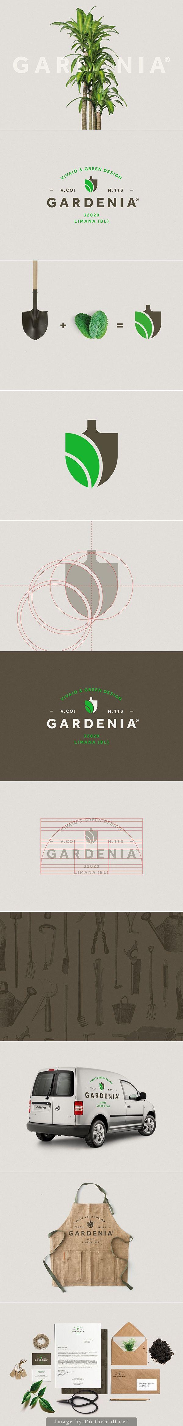 Gardenia identity by Luca Fontana // Creación de un logo simple que expresa fácilmente su propósi