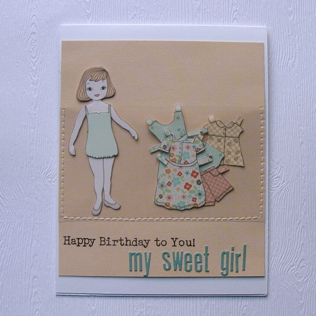 Handmade Little Girl's Birthday Card £2.50