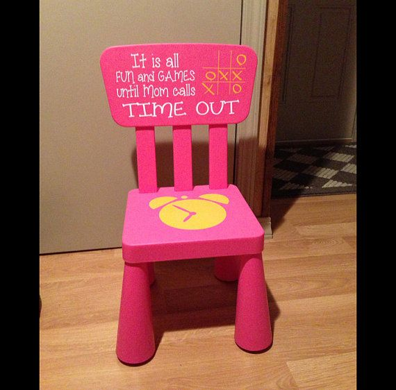 Time Out Chair Kids Furniture Pink Girls Timeout Chair