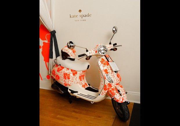 #ridecolorfully orange you glad Kate Spade makes Vespas?