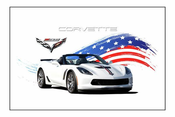 Corvette America Art Print by Peter Chilelli. All prints are professionally printed, packaged, and shipped within 3 - 4 business days. Choose from multiple sizes and hundreds of frame and mat options.