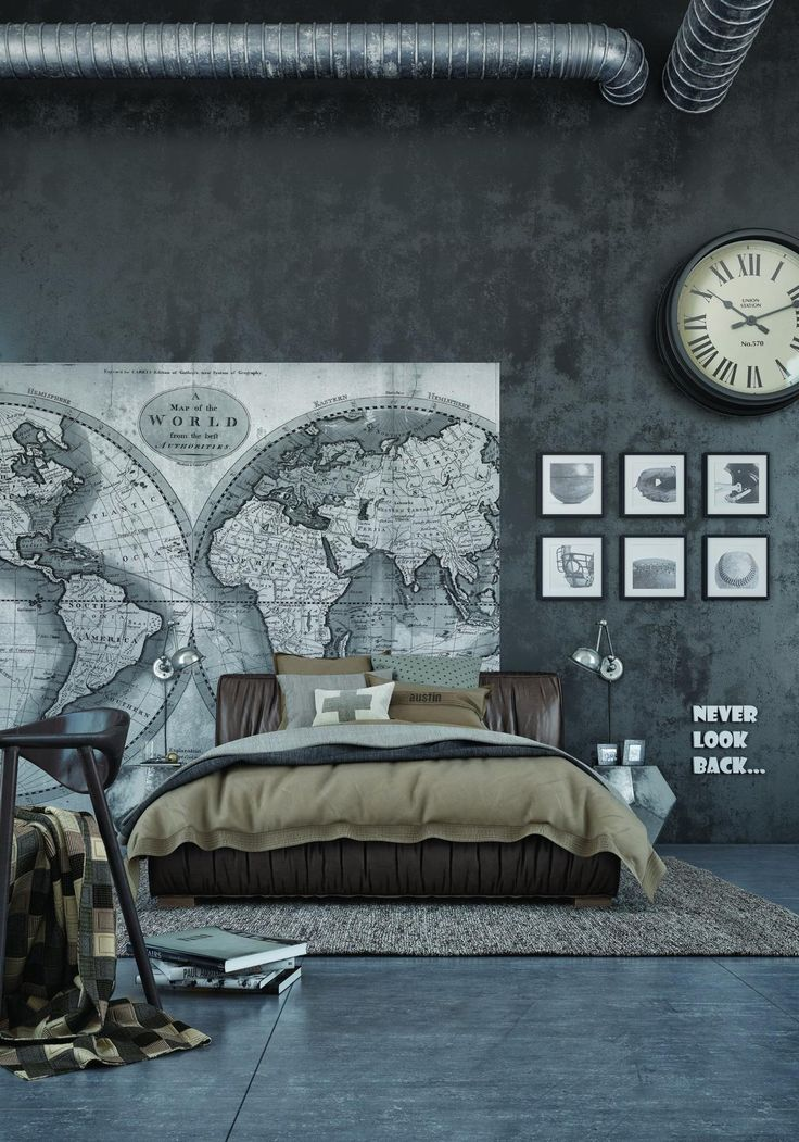 25 best ideas about industrial bedroom design on Bedroom wall designs in pakistan