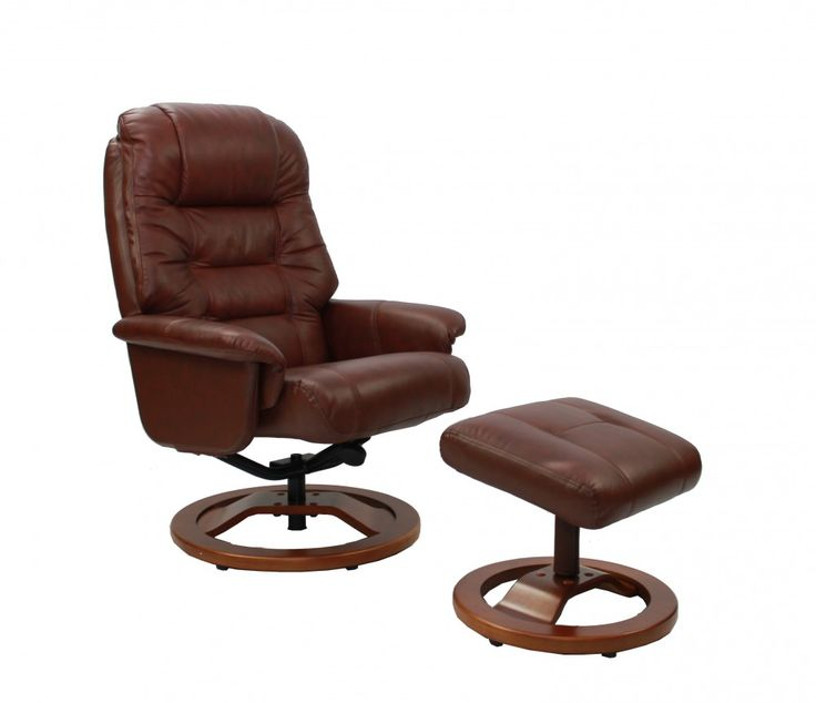 Venus #Recliner #Chair and Stool in #Chestnut - Slight Second