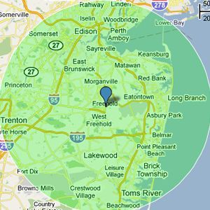 freehold on nj map center of central nj freehold project