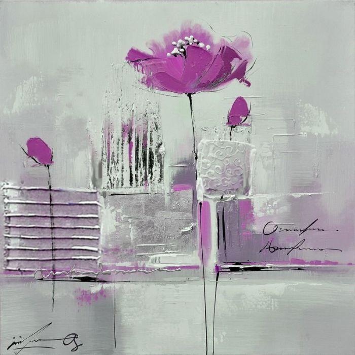 toile rose pattern   Toile design abstrait pivoines ROSE - Achat / Vente TABLEAU - POSTER ...
