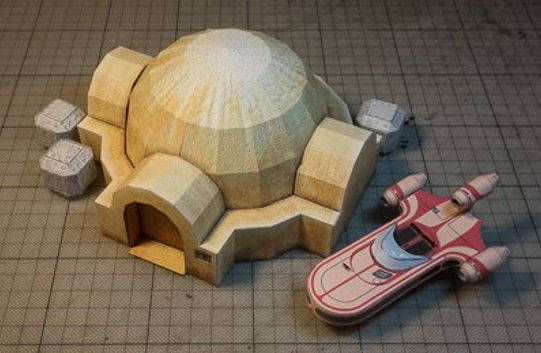 Star Wars - Lars Homestead Free Paper Model Download - http://www.papercraftsquare.com/star-wars-lars-homestead-free-paper-model-download.html#LarsHomestead, #StarWars