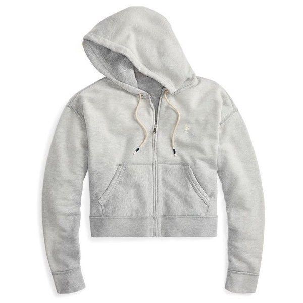 e487914b Polo Ralph Lauren Cropped Fleece FullZip Hoodie ($125) ❤ liked on ...